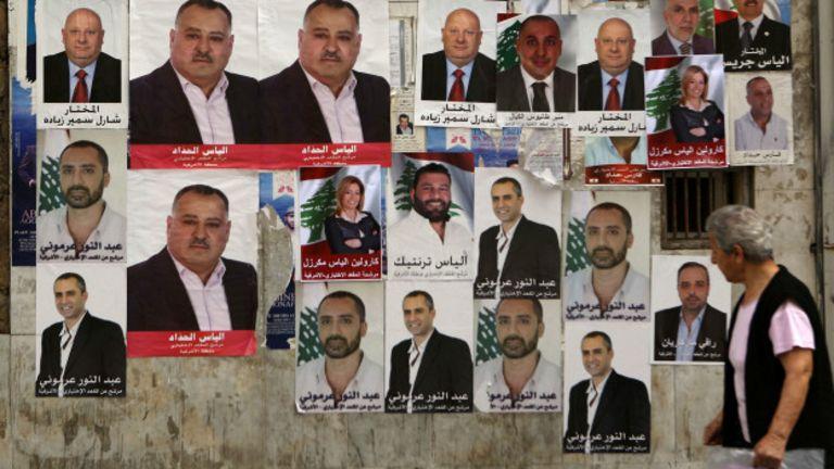 Lübnan'da seçimler Pazar günü gerçekleştirilecek. (AFP)