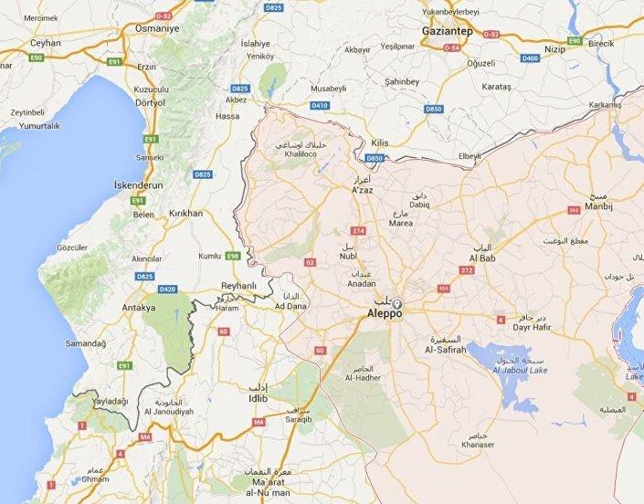 Halep Haritası (Google Maps)